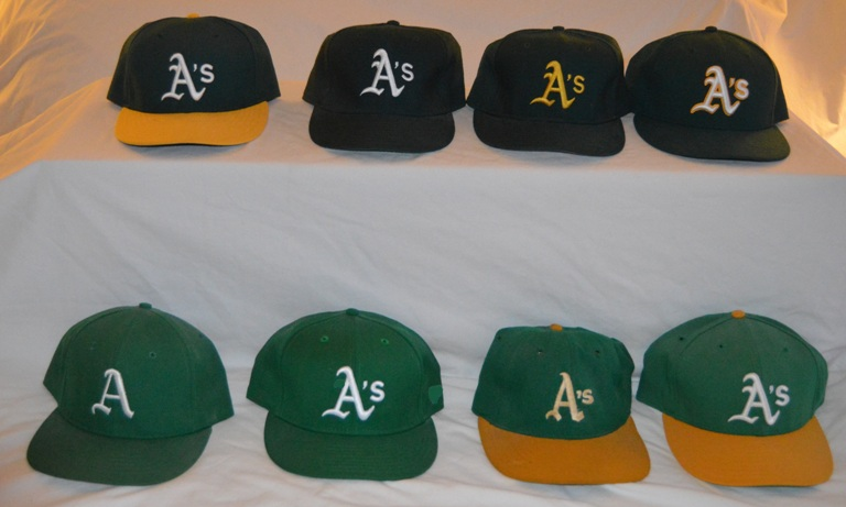 The A s have had 10 styles of caps since 1968 (Black style excluded in photo fbd6e98387a